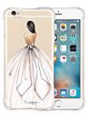 Pour Coque iPhone 6 Coques iPhone 6 Plus Antichoc Transparente Motif Coque Coque Arriere Coque Femme Sexy Flexible Silicone pouriPhone 6s