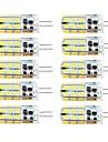3W G4 LED Bi-pin 조명 T 81 SMD 2835 260 lm 따뜻한 화이트 / 차가운 화이트 밝기 조절 AC 220-240 / DC 12 / AC 12 V 10개