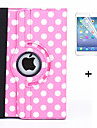 360 Degree Round Dots PU Leather Flip Cover Case for iPad 4/3/2 +Screen Protector Film Stylus Pen(Assorted Colors)
