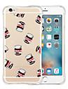 Pour iPhone X iPhone 8 iPhone 6 iPhone 6 Plus Etuis coque Antichoc Transparente Motif Coque Arriere Coque Bande dessinee Flexible Silicone