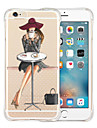 Pour iPhone X iPhone 8 iPhone 6 iPhone 6 Plus Etuis coque Antichoc Transparente Motif Coque Arriere Coque Femme Sexy Flexible Silicone