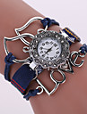 Women\'s Quartz Analog White Case Love Leather Band Bracelet Wrist Fashion Watch Jewelry Cool Watches Unique Watches