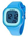 SYNOKE 아동 손목 시계 석영 LCD 달력 크로노그래프 방수 경보 야광의 Plastic 밴드 블랙 화이트 블루