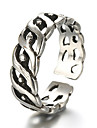 Ring Fashion / Adjustable Daily / Casual Jewelry Silver / Sterling Silver Women / Men Midi Rings / Band Rings 1pc,One Size Silver