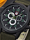 남성 밀리터리 시계 손목 시계 / 석영 가죽 밴드 캐쥬얼 블랙