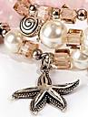 Bracelet Charm Bracelet / Strand Bracelet / Wrap Bracelet Crystal Star Fashion Casual Jewelry Gift Pink1pc
