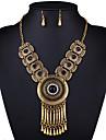 Набор украшений Ожерелье / серьги Сексуальные платья Мода европейский Черный Красный Синий Ожерелья Серьги ДляСвадьба Для вечеринок