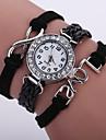 Women\'s Fashion Watch Wrist watch Bracelet Watch Quartz Colorful Imitation Diamond PU Band Vintage Sparkle Bohemian Casual Black White