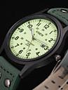 남성 스포츠 시계 밀리터리 시계 패션 시계 손목 시계 달력 방수 야광 석영 가죽 밴드 빈티지 멋진 캐쥬얼 그린
