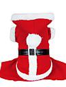 Chien Costume Manteaux Pulls a capuche Vetements pour Chien Mignon Cosplay Noel Uni Rouge