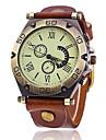 남성용 스포츠 시계 밀리터리 시계 드레스 시계 패션 시계 손목 시계 석영 펑크 가죽 밴드 빈티지 멋진 캐쥬얼 블랙 화이트 블루 레드 브라운 그린
