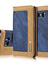 용 지갑 / 카드 홀더 / 스탠드 케이스 풀 바디 케이스 컬러 그라데이션 하드 천연 가죽 Samsung S7 edge / S7 / S6 edge / S6
