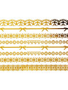 1Pc Gold and Black Long Bracelet Tattoo Sticker 15x9CM