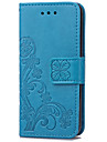 KARZEA Clover PatternTPU and PU Leather Case with Stand for iPod Touch5/6 New Touch