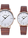 KEZZI Для пары Модные часы Наручные часы Имитация Алмазный / Кварцевый Кожа Группа Повседневная Cool Черный Белый Коричневый