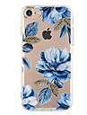 Pour iPhone X iPhone 8 iPhone 7 iPhone 7 Plus iPhone 6 Etuis coque Ultrafine Motif Coque Arriere Coque Fleur Flexible PUT pour Apple