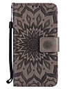 For Motorola Moto G4 Play G4 G2 Z Z Force X Style PU Leather Material Sun Flower Pattern Embossed Phone Case