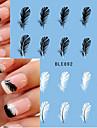 10pcs Adesivos para Manicure Artistica Decalques de transferencia de agua maquiagem Cosmeticos Designs para Manicure