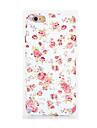Pour Phosphorescent Relief Motif Coque Coque Arriere Coque Fleur Flexible PUT pour AppleiPhone 7 Plus iPhone 7 iPhone 6s Plus iPhone 6
