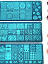 1pcs поделки способа штамповки пластины красочные&прекрасный образ маникюр красота трафареты для ногтей из нержавеющей стали штамповки