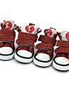 Chien Chaussures & Bottes Hiver Ete Printemps/Automne Mode Sportif Couleur Pleine Noir Marron Rouge Bleu