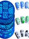 1шт горячей продажи ногтей штамповки пластины дизайн моды красочные бабочки цветок прекрасный дизайн маникюра трафареты STZ-01-10