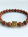 Bracelet Strand Bracelet Turquoise Owl Circle Volcanic Magnetic Therapy Gift Jewelry Gift Gold 1pc