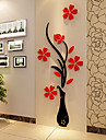 Acrylic Wall Stick The Plum Flower Wall 3 d Three-dimensional Creative Crystal Wall TV Setting Wall 60*150Cm