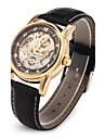 Мужской Наручные часы Механические часы Японский кварц С гравировкой С автоподзаводом PU Группа Люкс Черный