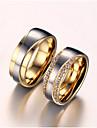 여성용 커플 링 모조 큐빅 모조 다이아몬드 러브 신부 지르콘 티타늄 스틸 도금 골드 사랑 보석류 제품 결혼식 생일 약혼 일상