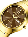 Homens Relogio de Moda Quartzo Calendario Lega Banda Preta Prata Dourada