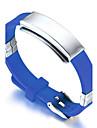 Men\'s ID Bracelets Friendship Fashion Hip-Hop Rock Movie Jewelry Initial Jewelry Costume Jewelry Silicone Titanium Steel Circle Round
