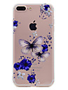 아이폰 7 플러스 7 전화 케이스 나비와 꽃 패턴 소프트 tpu 소재 전화 케이스 6s 플러스 6 플러스 6s 6 se 5s 5