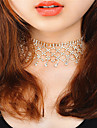 여성용 초커 목걸이 라인석 Geometric Shape 구리 라인석 패션 Euramerican 고급 보석 보석류 제품 파티 파티/이브닝