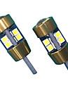 10w 렌즈 디자인 t10 can-bus led 전구 화이트 (2pcs)