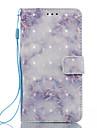 For LG K8 (2017) K10 (2017) Case Cover Blue Pattern 3D Painted Card Stent Wallet Phone Case For LG K7 K8