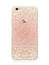 Etui pour iphone 7 plus 7 recouvrement transparent motif back case etui en caoutchouc impression mandala soft tpu pour Apple iphone 6s