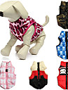 Cat Dog Coat Vest Red Green Blue Pink Rose Dog Clothes Winter Spring/Fall Skulls Camouflage Casual/Daily Keep Warm