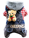 Dog Clothes/Jumpsuit Dog Clothes Casual/Daily Jeans Ruby Black