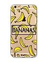 Etui pour iphone 7 plus 7 recouvrement transparent motif couverture arriere caisse de fruits banane doux tpu pour apple iphone 6s plus 6