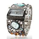 hesapli Defterler ve Yapışkan Notlar-Kadın's Bilek Saati Quartz Gündelik Saatler Alaşım Bant Analog Işıltılı Halhal Moda Gümüş