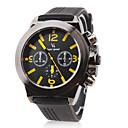 Buy V6® Men's Racing Style Black Dial Silicone Band Quartz Wrist Watch Cool Unique