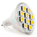 voordelige 2-pins LED-lampen-2800 lm GU4 (MR11) LED-spotlampen MR11 10 LED-kralen SMD 5050 Warm wit 12 V