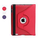 hesapli Kadın Saatleri-Pouzdro Uyumluluk iPad 4/3/2 Satandlı 360° Dönüş Tam Kaplama Kılıf Tek Renk PU Deri için iPad 4/3/2