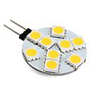 billiga LED-lampor med G-sockel-1 W LED-lampor med G-sockel 250-300 lm G4 9 LED-pärlor SMD 5050 Varmvit 12 V