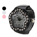 hesapli Erkek Saatleri-Kadın's Quartz Yüzük Saat Japonca imitasyon Pırlanta Alaşım Bant Çiçek Siyah / Beyaz / Pembe