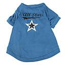 hesapli Bisiklet Çantaları-Köpek Tişört Köpek Giyimi Yıldızlar Mavi Pamuk Kostüm Evcil hayvanlar için