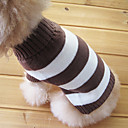 abordables Vêtements & Accessoires pour Chien-Chat Chien Pull Vêtements pour Chien Rayure Coton Costume Pour les animaux domestiques Homme Femme Garder au chaud Mode