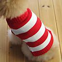 hesapli Meyve ve Sebze Araçları-Kedi Köpek Kazaklar Köpek Giyimi Çizgi Kırmzı Pamuk Kostüm Evcil hayvanlar için Erkek Kadın's Moda Noel