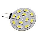 hesapli LED Bi-pin Işıklar-1.5 W 150-200 lm G4 LED Spot Işıkları 12 LED Boncuklar SMD 5730 Doğal Beyaz 12 V / #